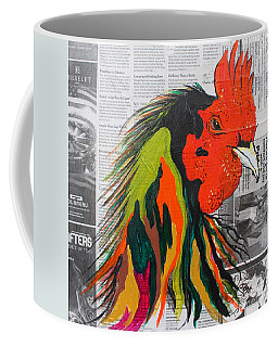 Coffee Mug featuring the painting Amadeo The Tuscan Rooster by Janice Rae Pariza