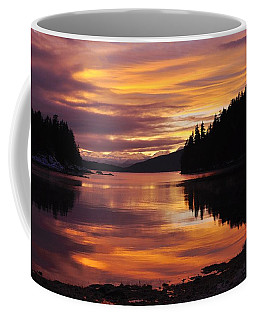 Amalga Harbor Sunset Coffee Mug by Cathy Mahnke