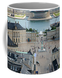 Coffee Mug featuring the photograph Amalienborg Palace Copenhagen by Mary Lee Dereske