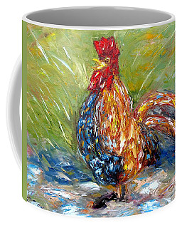 Amazed Rooster Coffee Mug