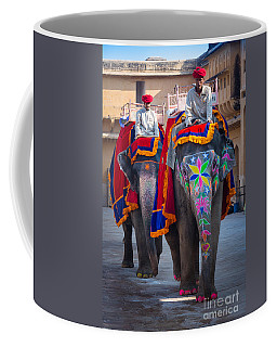 Amber Fort Elephants Coffee Mug