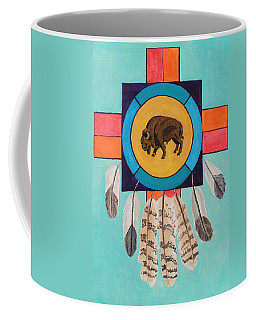 American Bison Dreamcatcher Coffee Mug