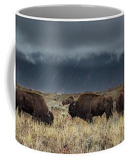 American Bison On The Prairie Coffee Mug