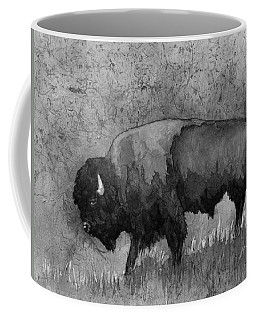 Monochrome American Buffalo 3  Coffee Mug