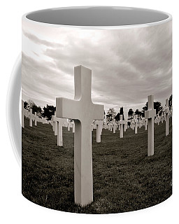 Coffee Mug featuring the photograph American Cemetery In Normandy  by Olivier Le Queinec