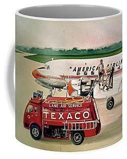 American Dc-6 At Columbus Coffee Mug by Frank Hunter