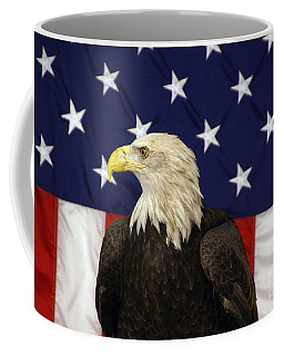 American Eagle And Flag Coffee Mug