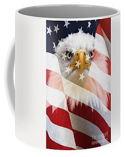 American Flag And Bald Eagle Montage Coffee Mug