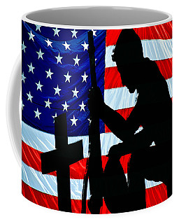 Coffee Mug featuring the photograph A Time To Remember American Flag At Rest by Bob Orsillo