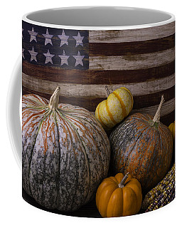 American Flag Autumn Still Life Coffee Mug