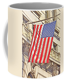 Coffee Mug featuring the photograph American Flag N.y.c 1 by Joan Reese