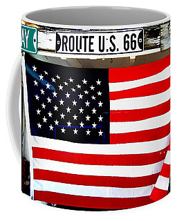 American Flag Route 66 Coffee Mug