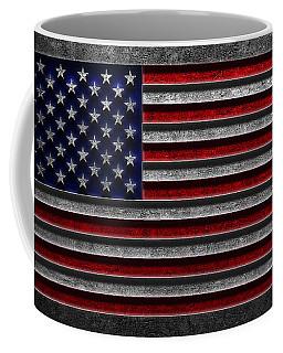 American Flag Stone Texture Coffee Mug