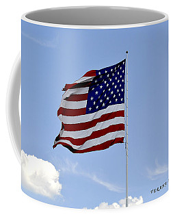 Coffee Mug featuring the photograph American Flag by Verana Stark