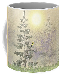American Goldfinch Morning Mist  Coffee Mug