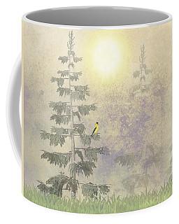 American Goldfinch Morning Mist  Coffee Mug by David Dehner
