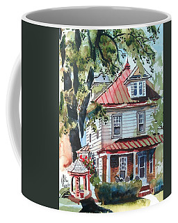 Coffee Mug featuring the painting American Home With Children's Gazebo by Kip DeVore