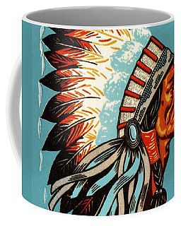 American Indian Chief Profile Coffee Mug