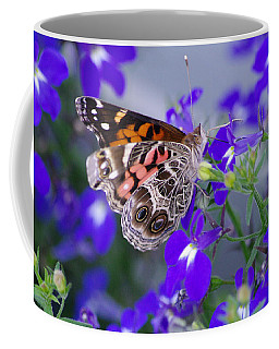 American Lady On Lobelia Coffee Mug