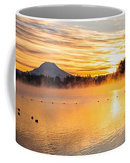 American Lake Misty Sunrise Coffee Mug
