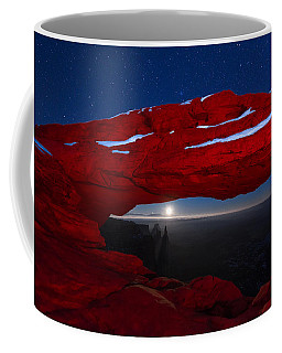 Coffee Mug featuring the photograph American Moonrise by Dustin  LeFevre