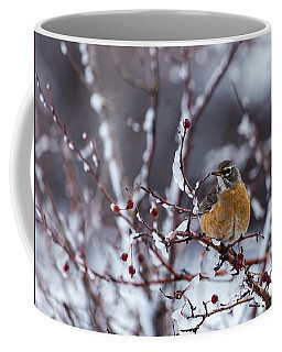 Coffee Mug featuring the photograph American Robin by Michael Chatt