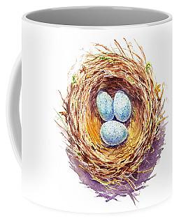 American Robin Nest Coffee Mug