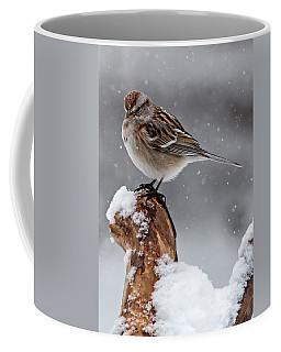 American Tree Sparrow In Snow Coffee Mug
