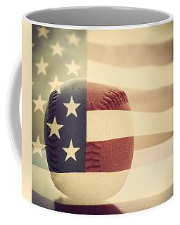Americana Baseball  Coffee Mug