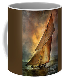 Coffee Mug featuring the digital art America's Cup  by Andrzej Szczerski