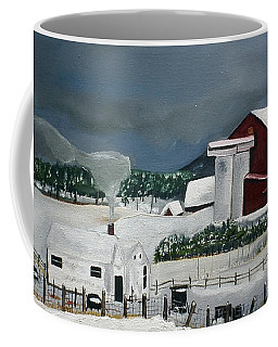 Amish Farm - Winter - Michigan Coffee Mug