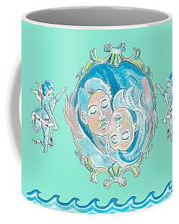 Amor In Aqua Coffee Mug by John Keaton