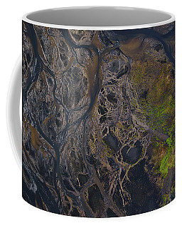 An Aerial View Of Streams Of Glacier Coffee Mug