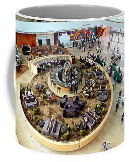 An Aerial View Of The Marina Bay Sands Hotel Lobby Singapore Coffee Mug