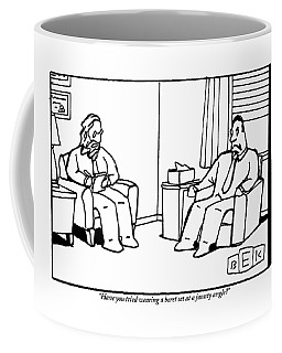 An Analyst Addresses His Patient Coffee Mug