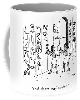 An Ancient Egyptian Speaks To Another Who Coffee Mug