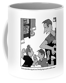 An Angry Father Tells His Two Misbehaving Sons Coffee Mug
