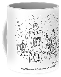 An Angry Football Player Is Being Interviewed Coffee Mug