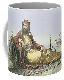 An Arab Resting In The Desert, Title Coffee Mug