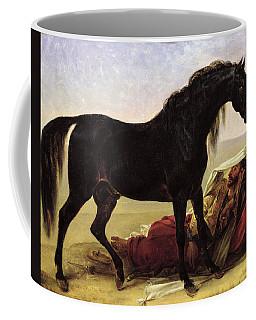 An Arabian Horse Oil On Canvas Coffee Mug