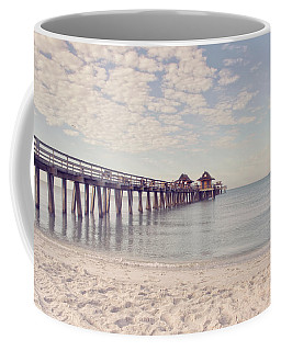 Coffee Mug featuring the photograph An Early Morning - Naples Pier by Kim Hojnacki