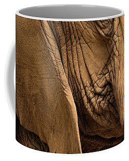 Coffee Mug featuring the photograph An Elephant's Eye by Nadalyn Larsen