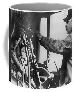 An Engineer In A Locomotive Coffee Mug