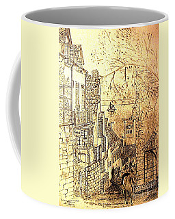 An English Fishing Village Coffee Mug by Hazel Holland