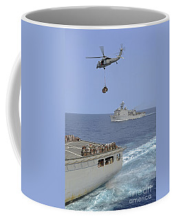 An Mh-60s Sea Hawk Helicopter Transfers Coffee Mug