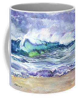 Coffee Mug featuring the painting An Ode To The Sea by Carol Wisniewski