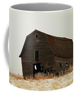An Old Leaning Barn In North Dakota Coffee Mug