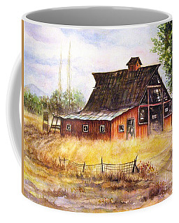An Old Red Barn Coffee Mug by Hazel Holland