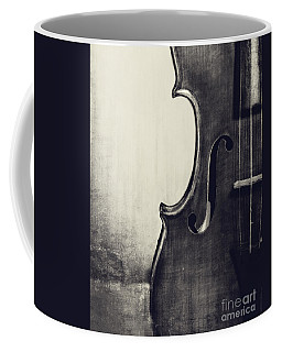 An Old Violin In Black And White Coffee Mug