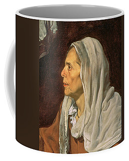 An Old Woman Cooking Eggs, 1618 Oil On Canvas Detail Of 68751 Coffee Mug